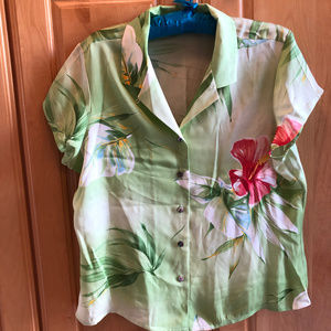 Tommy Bahama Silk Blouse 14